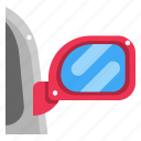 car, mirror, rearview mirror, security, transportation icon