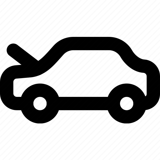 bonnet, car, open, part, vehicle icon