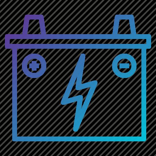 accumulator, battery, car icon
