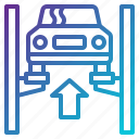 auto, car, garage, lift, repair, service icon