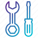 repair, screwdriver, setting, tool, wrench icon
