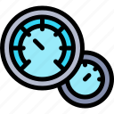 car, repair, repairment, speedometer, workshop icon