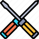 car, repair, repairment, screwdrivers, workshop icon