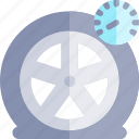 car, flat tire, repair, repairment, workshop icon