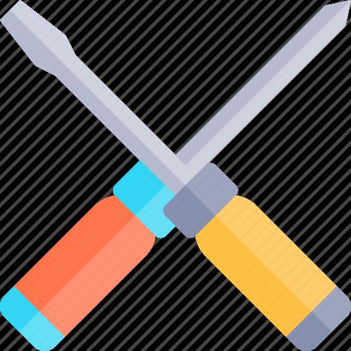 car, repair, repairment, screwdrivers, workshop icon