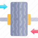 balancing, car, repair, repairment, workshop icon