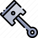 car, piston, repair, repairment, workshop icon