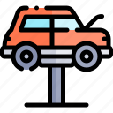 car, lifter, repair, repairment, workshop icon