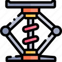 car, elevator, repair, repairment, workshop icon