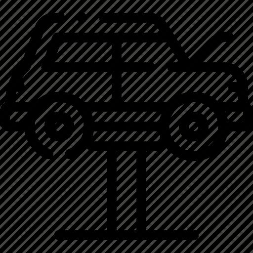 car, lifter, repair, repairment, workshop icon