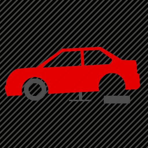 accident, breakdown, car, car park, crash, drive, fix icon