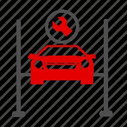 accident, breakdown, car, car park, fix, oil, petrol icon