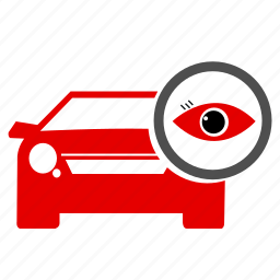 accident, car, eye, fix, map, see, traffic icon