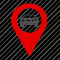 car, car park, gear, gps, map, park, traffic icon