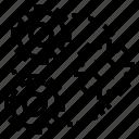 gear, gearshift icon