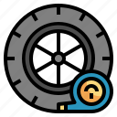 car, inflate, service, tire, wheel icon