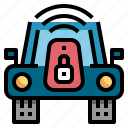car, key, lock, radio, wireless icon