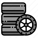 automobile, car, service, tire, wheel icon