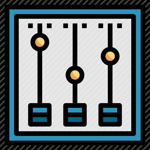 control, mixer, panel, settings, volume icon