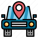 gps, location, navigator, service icon