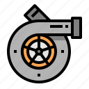 car, engine, turbo, vehicle icon