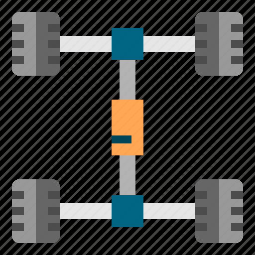auto, car, chassis, mechanics, service icon