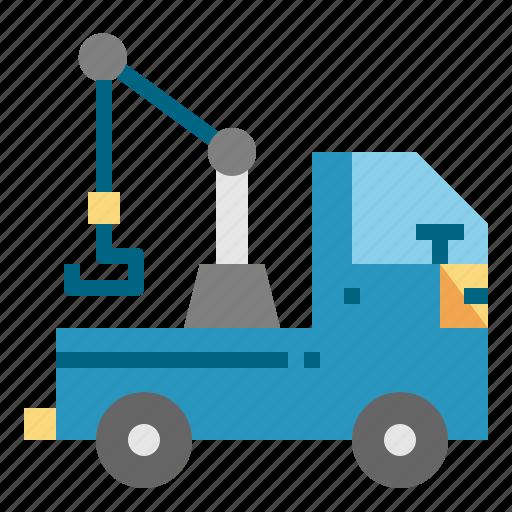 car, crane, tow, transport, truck icon