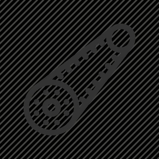 car, car service, engine, gears, transmission belt icon