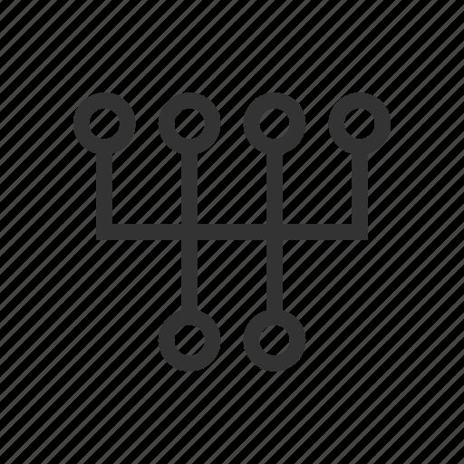 car, car service, switch, transmission box icon