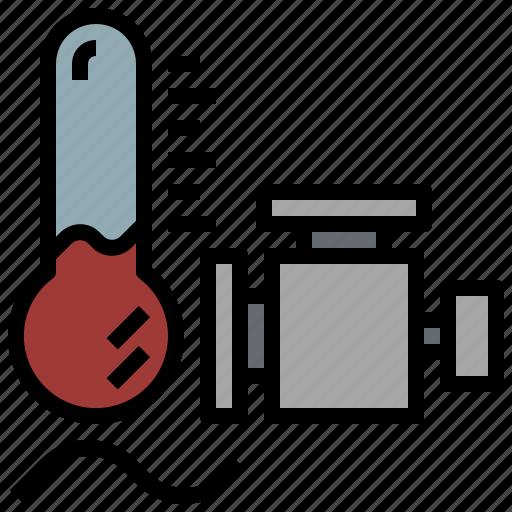 car, engine, garage, motor, service, temperature, transportation icon