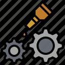 cogwheel, garage, repairing, service, settings, tool, wrench icon