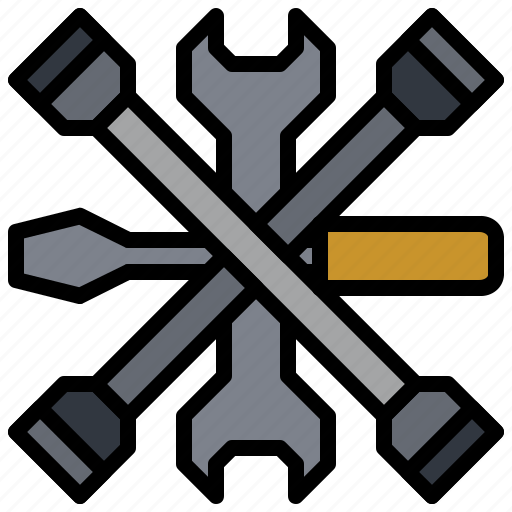 construction, garage, reparation, screwdriver, settings, tools, wrench icon