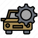 auto, automobile, car, garage, repair, transportation, vehicle icon