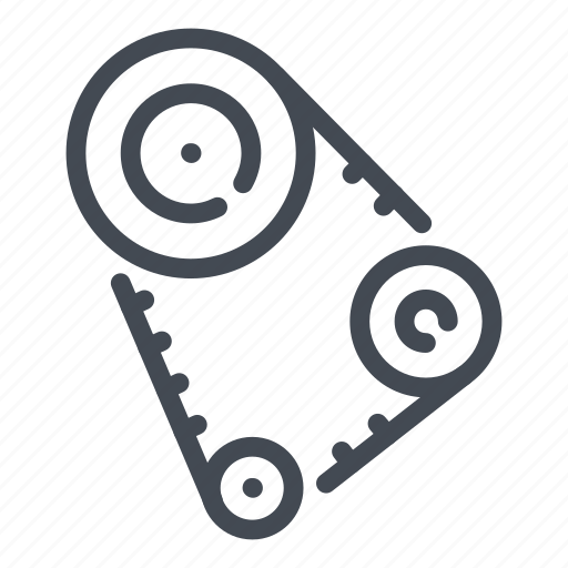 belt, car, engine, gear, mechanic, repair, service icon