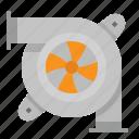 turbocharged, automobile, turbo, power, engine icon