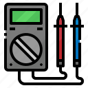 digital, electronic, measuring, multimeter, tools icon