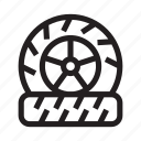 auto, car, change, service, tire, support, vehicle icon