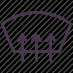 auto, heat, parts, service, windscreen, windshield icon