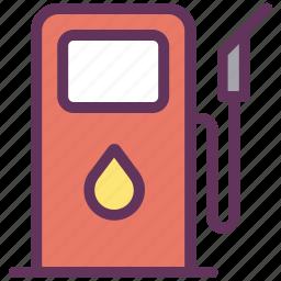 fuel, gas, gasoline, station icon