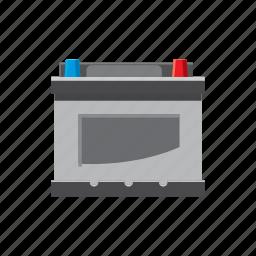battery, car, cartoon, electricity, energy, supply, volt icon