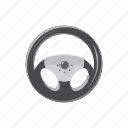 car, cartoon, circle, control, steering, vehicle, wheel icon