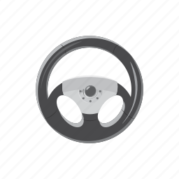 car, cartoon, circle, control, steering, vehicle, wheel icon