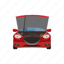 car, cartoon, hoist, maintenance, repair, service, transport icon