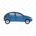 automobile, automotive, car, cartoon, transport, transportation, vehicle icon