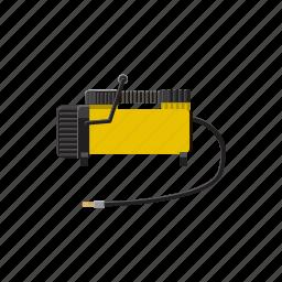 air, car, cartoon, compressor, equipment, machine, pump icon