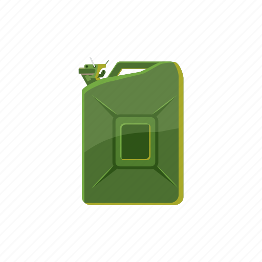 canister, cartoon, container, diesel, handle, industry, steel icon