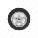 car, cartoon, race, rim, tire, tyre, wheel icon