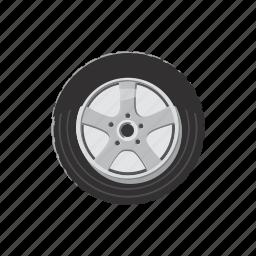 car, cartoon, race, rim, tire, tyre, wheel icon