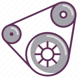 automobile, belt, camshaft, cogwheel, gear, parts, timing icon