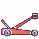 car, garage, hoist, lift, mechanican, repair, service icon
